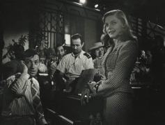 """Hoagy Carmichael and Lauren Bacall, """"To Have or Have Not"""" (Looking at each other), 1943, 11 x 14 Silver Gelatin Photograph"""