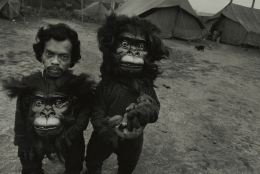 TwinBrothers Tulsi and Basant, Great Famous Circus, Calcutta, India, 1989, Silver Gelatin Photograph