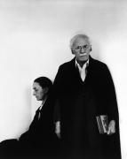 Georgia O'Keefe and Alfred Steiglitz, 1944, Silver Gelatin Photograph