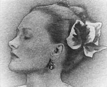 Mrs. Tony Duquette, 1948, 7-3/4 x 9-3/8 Vintage Solarized Silver Gelatin Photograph