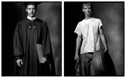 College Graduate / High School Dropout, 2003 / 2002, 20 x 32-1/2 Diptych, Archival Pigment Print, Ed. 20