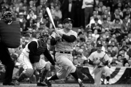 Yogi Berra Swinging in the 1960 World Series, New York Yankees vs. Pirates, Pittsburgh, Pennsylvannia, 1960, 16 x 20 Silver Gelatin Photograph, Ed. 150