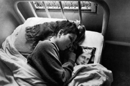 Mona in Bed with Photo, Ward 81, 1976, Silver Gelatin Photograph