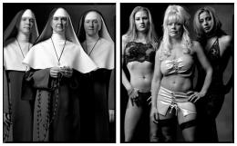 Catholic Nuns / Prostitutes, 2002 / 2002, 20 x 32-1/2 Diptych, Archival Pigment Print, Ed. 20