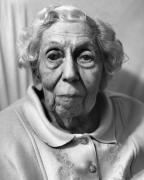 Eudora Welty, Jackson, MS, 1997 (10527-9-9-10), Silver Gelatin Photograph