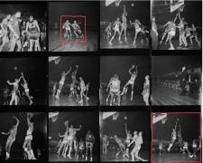 Bill Russell & Wilt Chamberlain Contact Sheet, Philadelphia Warriors vs. Boston Celtics, Convention Hall, Philadelphia, 1960, Silver Gelatin Photograph