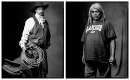 Cowboy / Indian, 2002 / 2003, 20 x 32-1/2 Diptych, Archival Pigment Print, Ed. 20