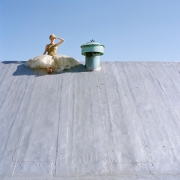 Edythe on Rooftop, New York, New York, 2008, Archive Number: NYM-0608-016-02, 16 x 20 Archival Pigment Print