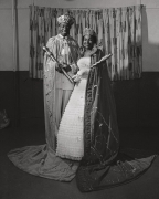 Robert D. Thomas, a WDIA disc jockey known as Honey Boy, and Thelma Exelle, who ran a barbershop, were crowned king and queen of the Cotton Makers Jubilee, 1959, Archival Pigment Print