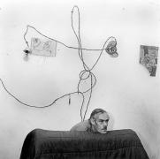 Head Below Wires, 1999, Silver Gelatin Photograph