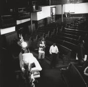 Seventeen-year-old Larry Payne, his body laying in repose at the Clayborn Temple, 1968, Archival Pigment Print