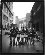 Wild Ones (Cindy Crawford, Tatjana Patitz, Helena Christensen, Linda Evangelista, Claudia Schiffer, Naomi Campbell, Karen Mulder, Stephanie Seymour) Brooklyn, New York, 1991