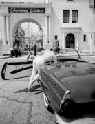 Woman at The 'Paramount Studios' Gate in Hollywood, Silver Gelatin Photograph