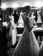 Allan Grant Audrey Hepburn and Grace Kelly backstage at the 28th Annual Academy Awards, 1956