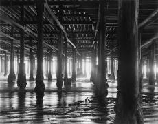 Beneath Santa Monica Pier, 1970, Silver Gelatin Photograph