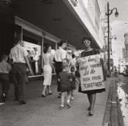 Junienne Briscoe, sixteen-years-old, joined the picket lines along Main Street, n.d., Archival Pigment Print