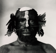 Tribesman with Nose Ornament, New Guinea, 1970/1990, Silver Gelatin Photograph, Ed. of 18
