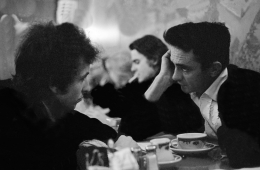 Bob Dylan and Johnny Cash, New Jersey Restaurant, 1965, Silver Gelatin Photograph