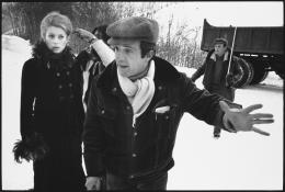Francois Truffaut directing Catherine Deneuve on the set of Mississippi Mermaid, Grenoble, France, 1969