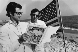 Terry Southern and Robert Fraser (on beach in Malibu), (Later Print made in Artist's lifetime), 1965