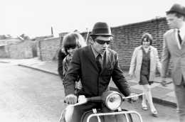 Mods on Scooter, Streatham, London, 1976