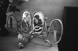 Brooke and Dennis (silver frame), 1965