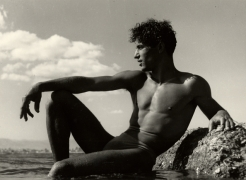 Young Man on a Rock, Liguria, 1936, 30cm x 40cm Silver Gelatin Photograph