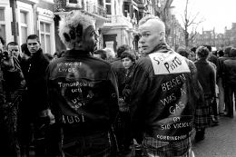 Punks at Sid's Memorial London 1979, 16 x 20 inches - Archival Pigment Print - Edition of 50