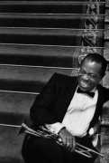 Louis Armstrong on the MGM set of High Society, Culver City, California, 1956