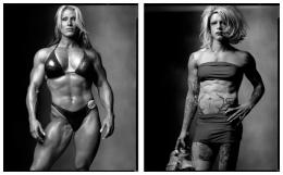 Female Body Builder / Drag Queen, 2002 / 1999, 20 x 32-1/2 Diptych, Archival Pigment Print, Ed. 20