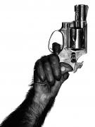 Monkey with Gun, New York City, 1992, Archival Pigment Print