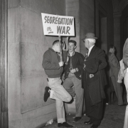 Segregationists gathered at the Tennessee Capitol, Nashville, 1956, Archival Pigment Print