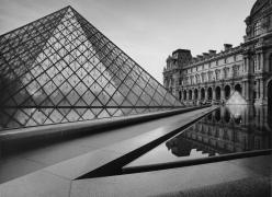 The Louvre, Dusk, 1999, Silver Gelatin Photograph