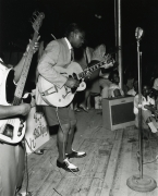 B.B. King Performing on stage at The Hippodrome, Beale Street in Memphis, TN, with Bill Harvey, c. 1950, Archival Pigment Print