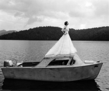 Laura on Top of Boat, Lake Placid, New York, 2006, Archive Number: EBR-0706-007-01, 16 x 20 Silver Gelatin Photograph