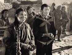 """Woman with Bandage"", Tibet, 1993, 11-15/16 x 15-7/16 Platinum Photograph, Ed. 25"
