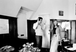 David Geffen with Joni Mitchell, Time Magazine, 1974, Silver Gelatin Photograph