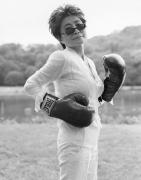 Yoko Ono, Central Park, NYC, 2006 (49707-28-12), Silver Gelatin Photograph