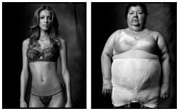 Lingerie Model / Woman in Girdle, 2006 / 2007, 20 x 32-1/2 Diptych, Archival Pigment Print, Ed. 20