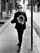 Bob Dylan Walking with Top Hat, Philadelphia, PA, 1964