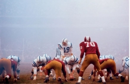 Johnny Unitas vs. Redskins, December, 1964, Color Photograph