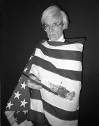 Andy Warhol in American Flag, Madrid, 1983