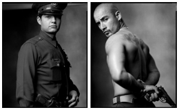 Police Officer / Gang Member, 2003 / 1999, 20 x 32-1/2 Diptych, Archival Pigment Print, Ed. 20