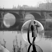 Melvin Sokolsky Bubble, Seine, Harpers's Bazaar, (Simone) Paris, 1963