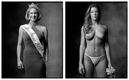 Beauty Pageant Contestant / Topless Dancer, 2000 / 2002, 20 x 32-1/2 Diptych, Archival Pigment Print, Ed. 20