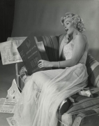 Marilyn Monroe (Reading Reference Book- Side View), 14 x 11 Silver Gelatin Photograph