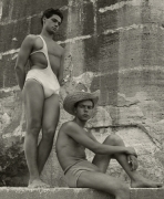 Two Boys by the Tiber, Rome, 1950, 40cm x 30cm Silver Gelatin Photograph
