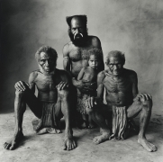 Father, Son, Grandfather, and Great Grandfather, New Guinea, 1970, Silver Gelatin Photograph, Ed. of 5