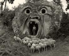 The 'Mostro' at Bomarzo, 1952, 30cm x 40cm Silver Gelatin Photograph