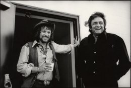 Waylon Jennings and Johnny Cash, Hendersonville, Tennessee, 1974